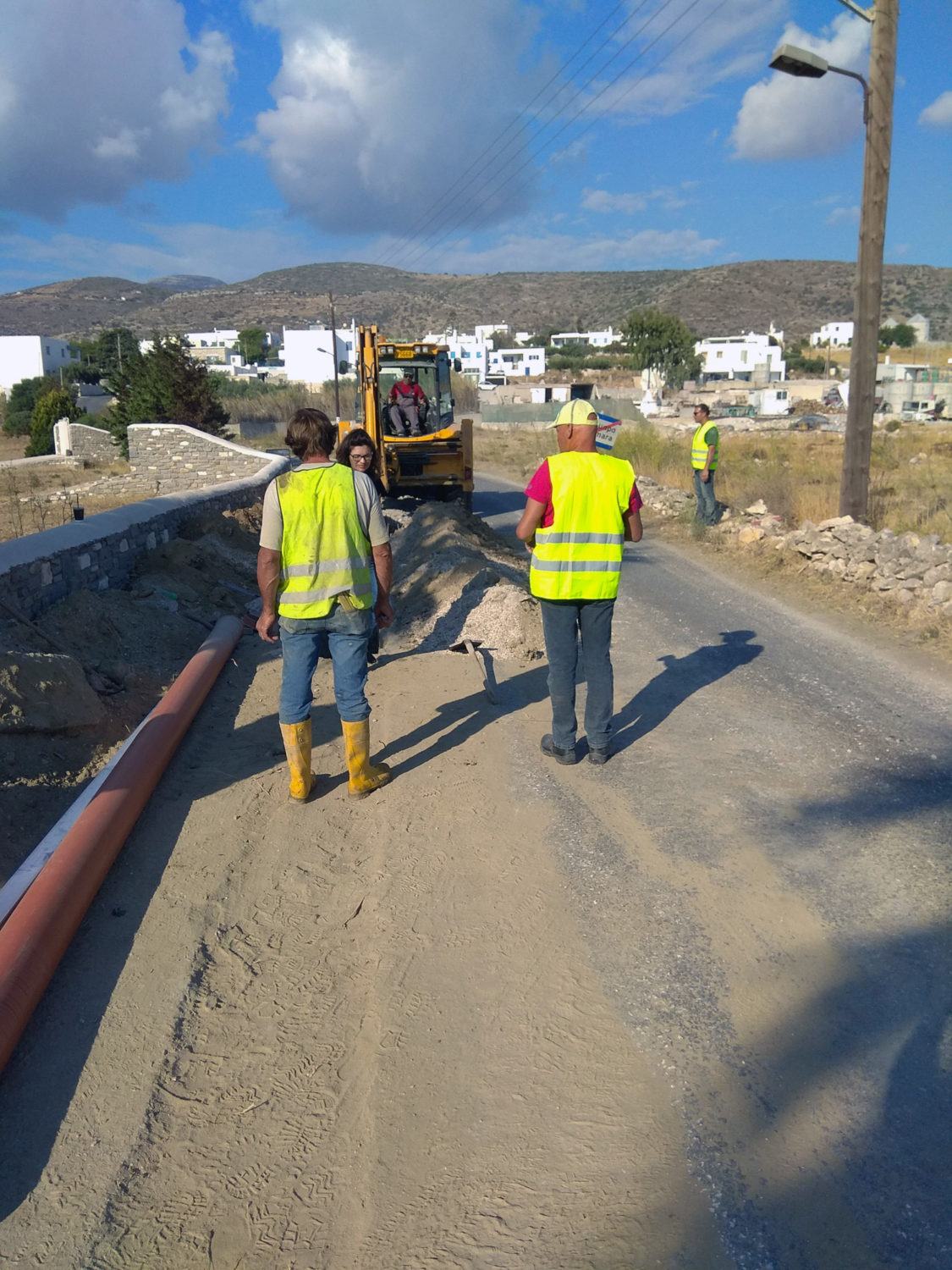 Sewerage works 2017 Network Expansion in the community of Archilochos (Marmara)