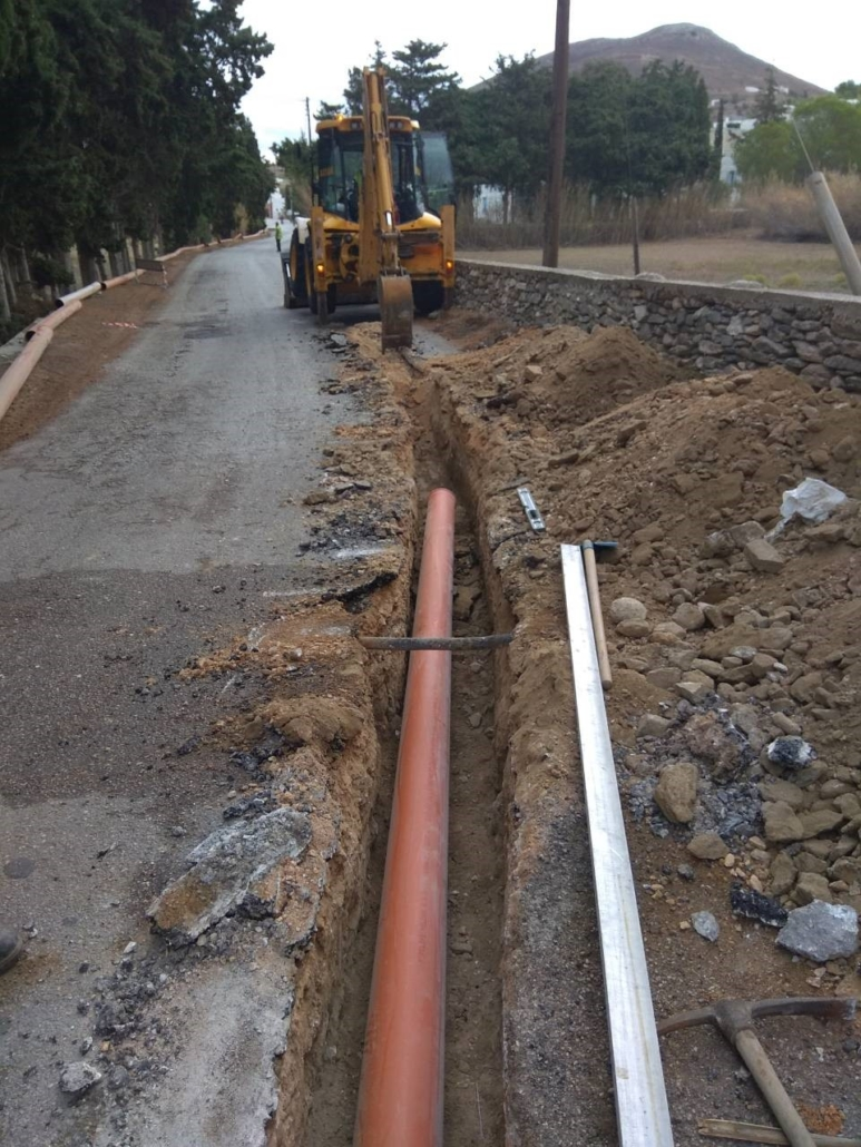 Expansion of the sewerage network in Pyrgaki area